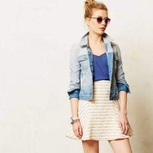 Anthropologie Maeve Lucaya Tweed A Line Mini Skirt